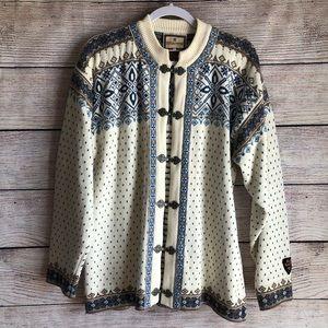 Dale Of Norway Cotton Islandic Fair Isle Sweater